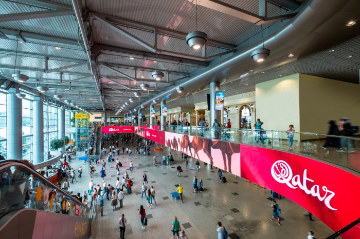 Qatar was the first to buy the premium format of video advertising in Domodedovo