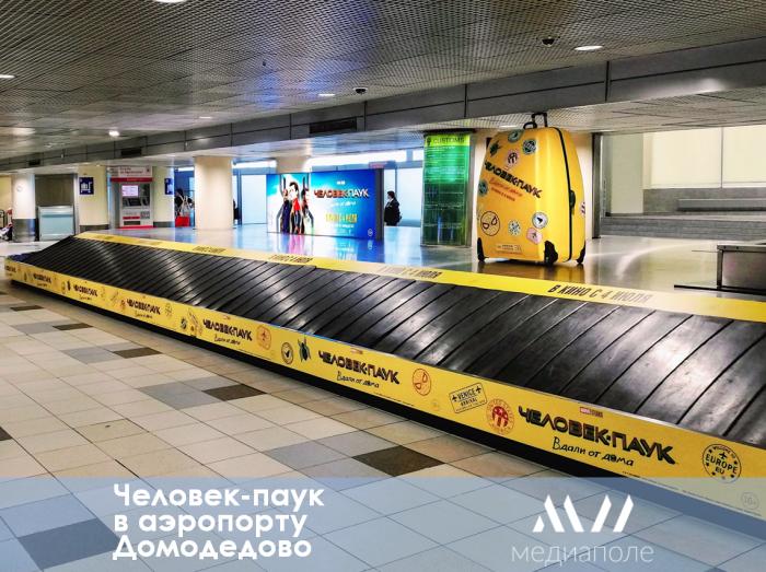 Оригинальная и захватывающая рекламная кампания проходит в международном аэропорту Домодедово.