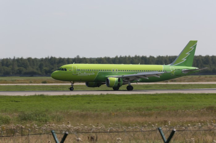 Аэропорт Домодедово встретил первый самолет «Сибири» в «зеленой» ливрее